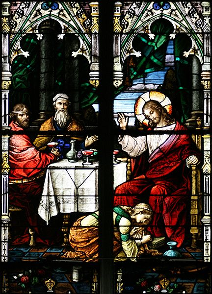 Glassmaleri fra St. Alphonsus-kirken i Grand Rapids, Michigan, USA
