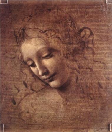 Kvinneportrett av Leonardo da Vinci, ca 1508.