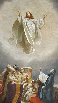 Christi Himmelfahrt, malt av Gebhard Fugel, ca 1893.